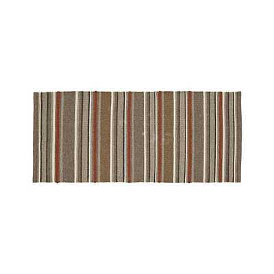 Lia Stripe Wool-Blend Rug - 2.5'x6' - Crate and Barrel