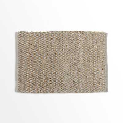 Jute Chenille Herringbone Rug -2'x3' -Natural/Platinum - West Elm