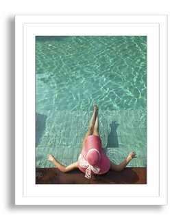 """Resting Poolside- 19"""" x24""""- Framed - One Kings Lane"""