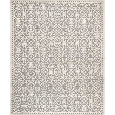 Cambridge Silver/Ivory Area Rug - Wayfair