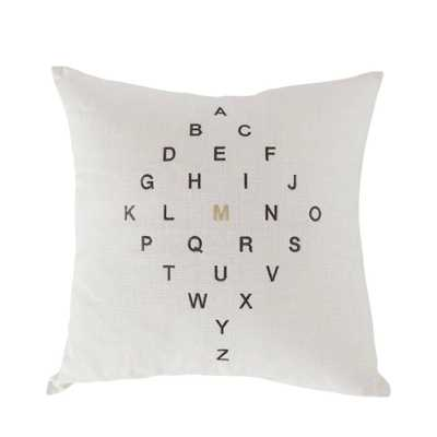 Letter Diamond Pillow - Lulu and Georgia