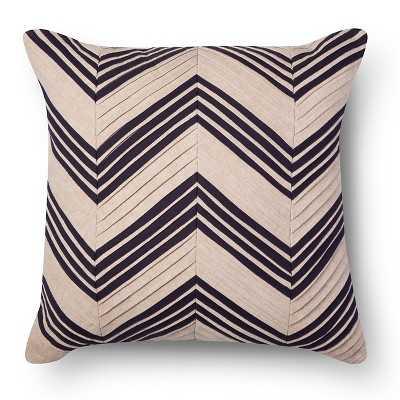 Pleated Chevron Square Decorative Pillow - Target