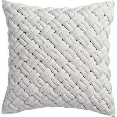 "Jersey interknit ivory 20"" pillow - Insert included - CB2"