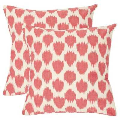 Safavieh 2 Pack Polka Dots Pillow, 22''sq./Insert included - Target