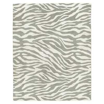 Zebra Stripe Special Order Wool Rug - Platinum, 6x9 - West Elm