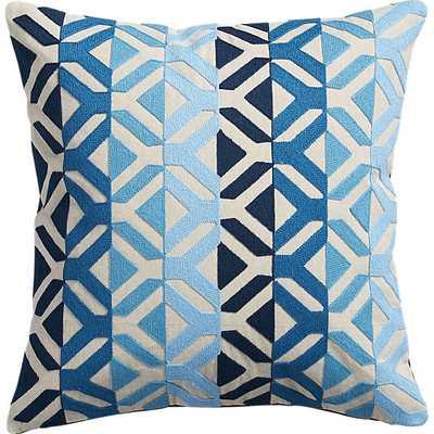 Appliqué blues pillow - CB2