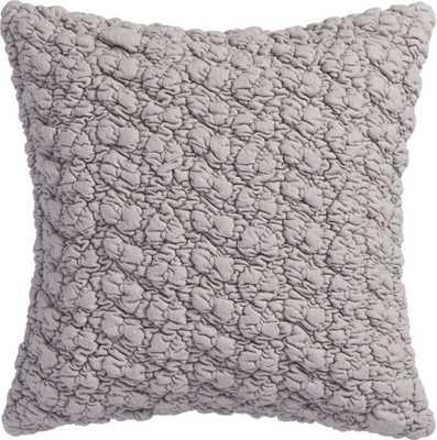 "gravel light grey 18"" pillow with down-alternative insert - CB2"