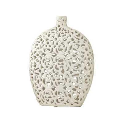 Tracery Vase - White - AllModern