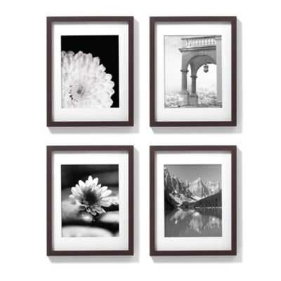 11-Inch x 14-Inch Gallery Frames in Espresso (Set of 4) - framed - Bed Bath & Beyond