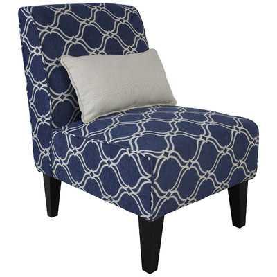 Langford Slipper Chair with Pillow - Wayfair