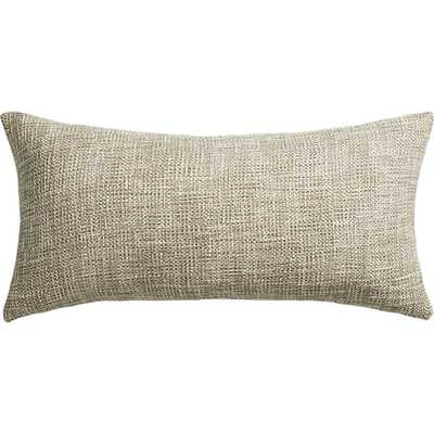 """Format natural 23""""x11"""" pillow with feather-down insert - CB2"""