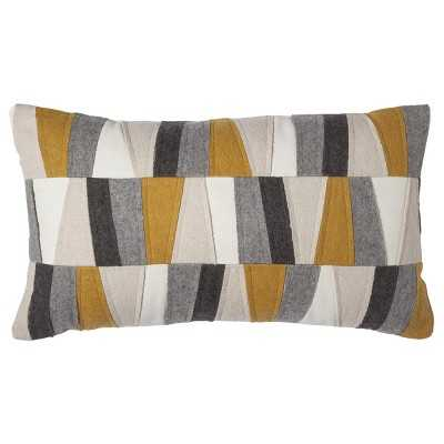 Room Essentials Felt Patches Decorative Pillow - Gold - Target