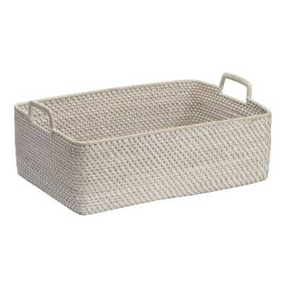 Modern Weave Harvest Baskets - Whitewash - West Elm