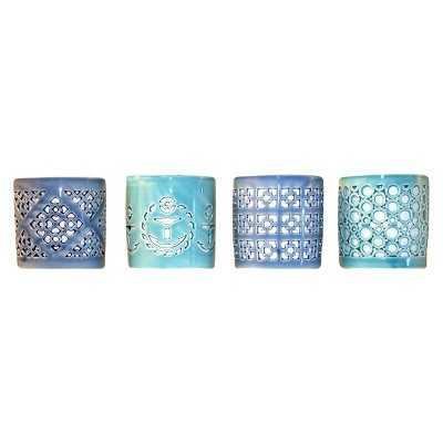 Set of 4 Ceramic Votive Candleholders - Target