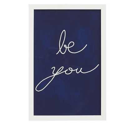 Be You Framed Print - Pottery Barn