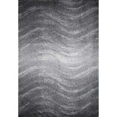 nuLOOM Contemporary Ombre Waves Grey Rug - Overstock