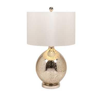 "Avignon Mercury 30"" H Table Lamp with Drum Shade - AllModern"