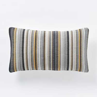 "Margo Selby Mini Blocks Pillow Cover - Horseradish - 12""w x 21""l - Insert sold separately - West Elm"