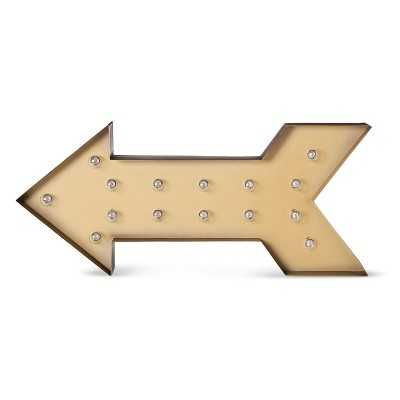 "Metal Marquee Large - Arrow - Brass - Thresholdâ""¢ - Target"