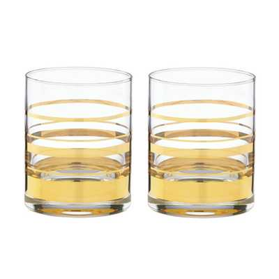 Kate spade new york Hampton Tumblers, S/2 - Domino