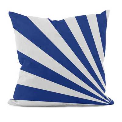 "Geometric Decorative Throw Pillow -  Dazzling Blue - 18"" H x 18"" W - Polyfill - AllModern"