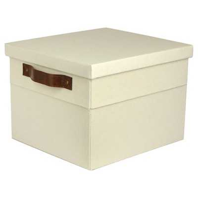 Small Lidded Milk Crate with Vintage Handles - Target