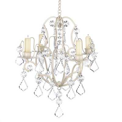 Elegant Crystal and Candle Hanging Chandelier - Overstock