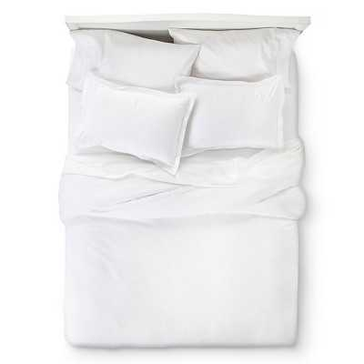 400 Thread Count Hemstitch Solid Duvet Cover Set - Target