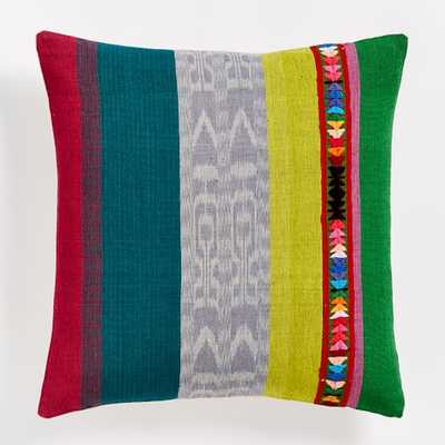"Prismatic Colorblock Pillow Cover- Multi- 18""sq- Insert Sold Separately - West Elm"