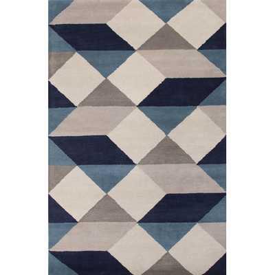 En Casa Gray & Blue Geometric Area Rug - 8' x 11' - AllModern