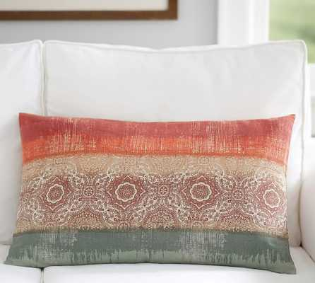"OMBRE PRINT LUMBAR PILLOW COVER-16""x 26"" - without insert - Pottery Barn"