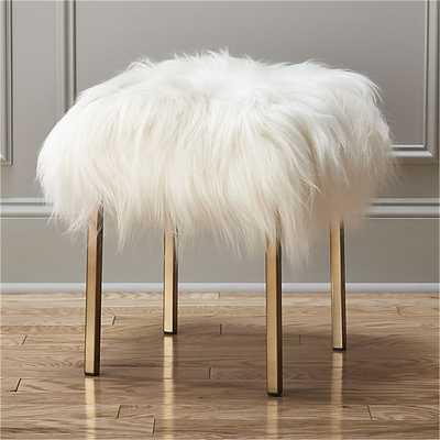 sheepskin stool - CB2