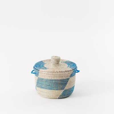 Graphic Printed Warming Basket - West Elm