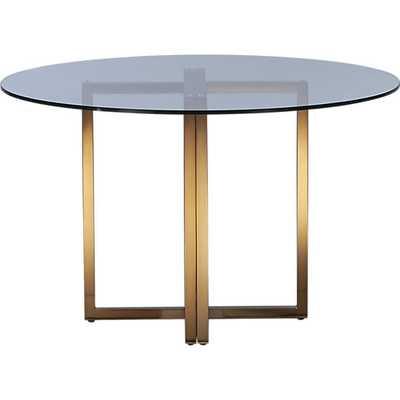 """Silverado brass 47"""" round dining table - CB2"""