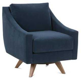 Darek Velvet Swivel Chair - One Kings Lane