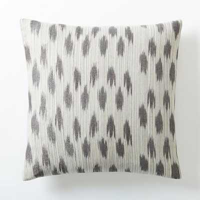 "Metallic Ikat Dot Pillow - Platinum - 20"" - Insert Sold Separately - West Elm"