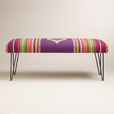 Calypsa Upholstered Hairpin Bench - World Market/Cost Plus
