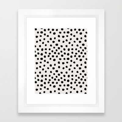 """Preppy brushstroke free polka dots - 10"""" x 12"""" - Framed - Society6"""