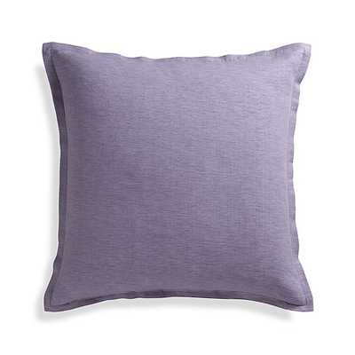 """Linden Lavender Purple 23"""" Pillow with Down-Alternative Insert - Crate and Barrel"""