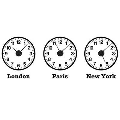 Time Zone Clocks Wall Sticker Set (mechanisms included) - Etsy