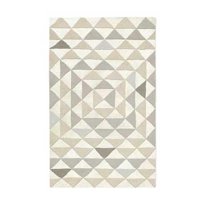 Framed Triangles Special Order Wool Rug - Platinum (4-Week Delivery) - West Elm