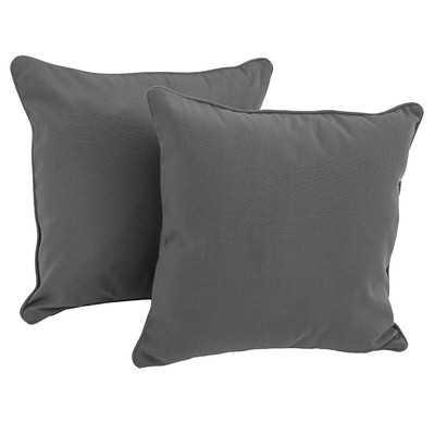 "Weymouth Solid Throw Pillow - Gray - 18"" H x 18"" W - No insert - Wayfair"