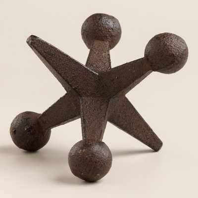 Cast Iron Jack Doorstop - World Market/Cost Plus