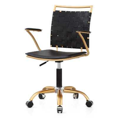 Mid-Back Office Chair - Gold and Black - Wayfair