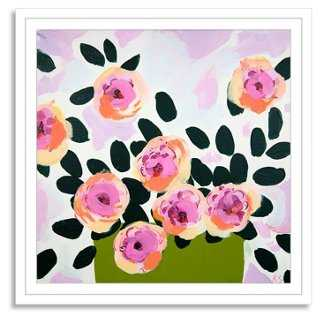 """Katy Smail, Pink Posey - 24"""" x 24"""" - Framed - One Kings Lane"""