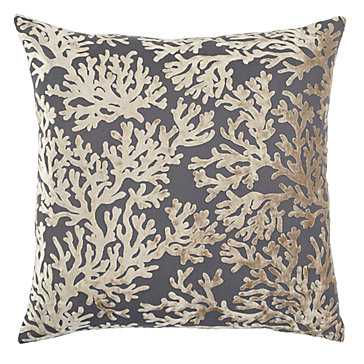 """Corales Pillow 24"""", Light Grey,  feather down insert - Z Gallerie"""