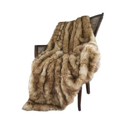 Faux Fur Lounge Throw - Wayfair