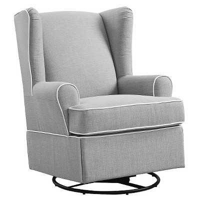 Eddie Bauer® Upholstered Wingback Swivel Glider - Gray - Target
