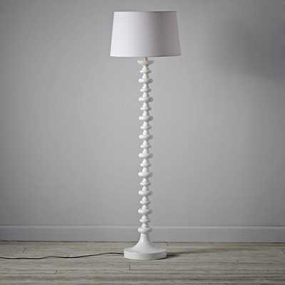 White Chess Club Floor Lamp Base - Land of Nod
