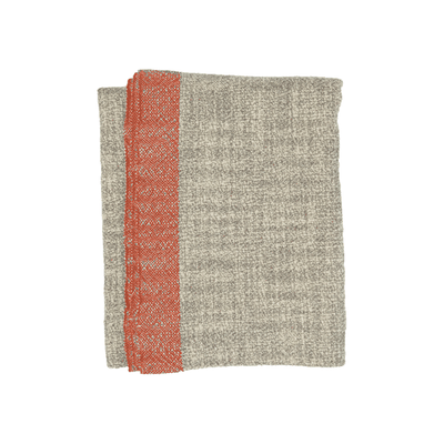 Marled Wool Throw in Persimmon - Domino